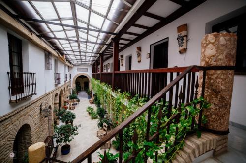 A balcony or terrace at Hacienda Posada de Vallina