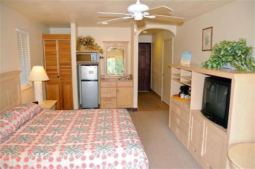 A kitchen or kitchenette at The West Inn Kauai