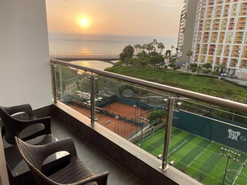 A view of the pool at Terrazas Apartments Miraflores or nearby