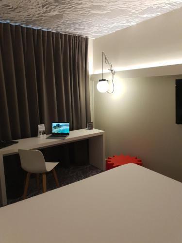 Cama o camas de una habitación en ibis Luxembourg Aeroport