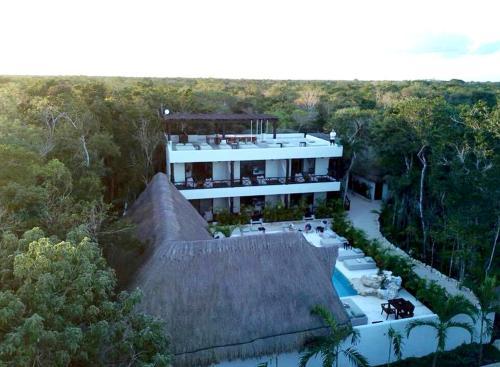 Vista de la piscina de Xcacel Dreams o alrededores