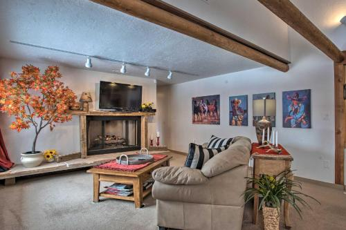 A seating area at Ouray Home with Patio - 3 Miles to Downtown!