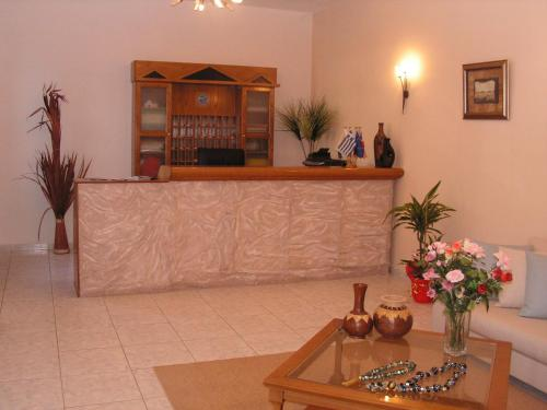 The lobby or reception area at Aphroditi Hotel