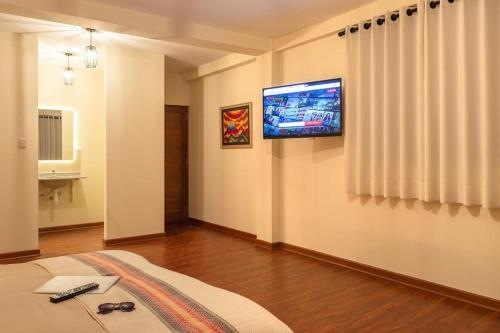 A television and/or entertainment center at The Nest La Paz