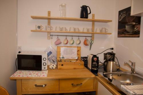 Küche/Küchenzeile in der Unterkunft Privatzimmer im sonnigen Südburgenland