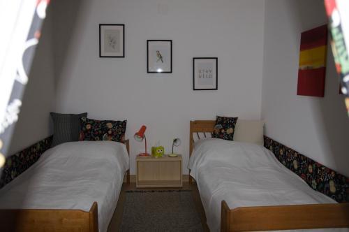 Ein Bett oder Betten in einem Zimmer der Unterkunft Privatzimmer im sonnigen Südburgenland