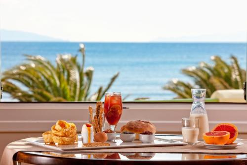 Breakfast options available to guests at Finikas Hotel