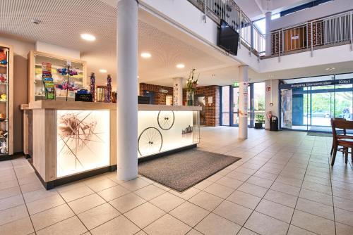 The lobby or reception area at Jugendgästehaus Aasee