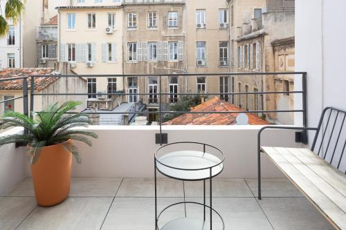 A balcony or terrace at Hôtel Maison Montgrand - Vieux Port