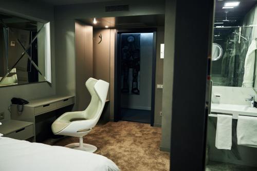 A bathroom at Vozdvyzhensky Boutique Hotel