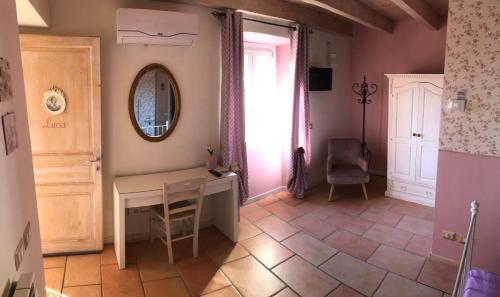 A television and/or entertainment center at La Rocca Dell'Innominato