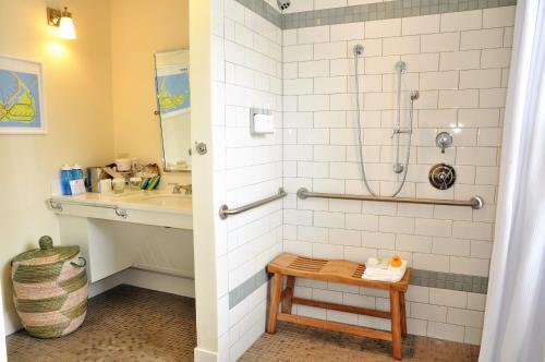 A bathroom at The Nantucket Hotel & Resort