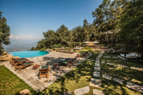 A view of the pool at Dwarika's Resort - Dhulikhel or nearby