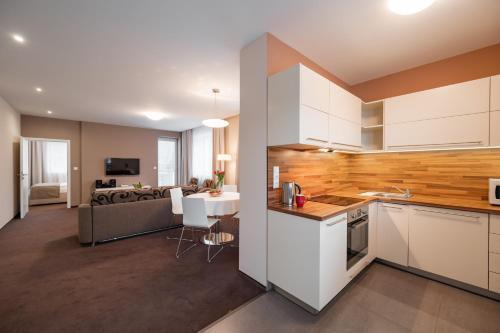 Kuchyň nebo kuchyňský kout v ubytování Hotel Vila Viola
