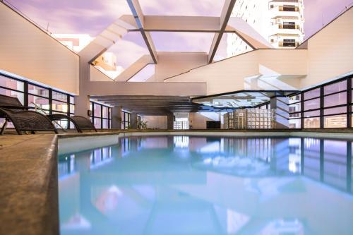 The swimming pool at or near Dan Inn Sorocaba