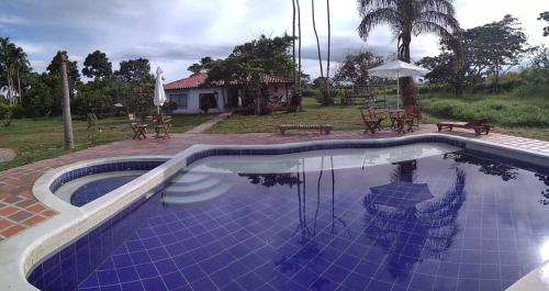 The swimming pool at or near Hotel del Campo