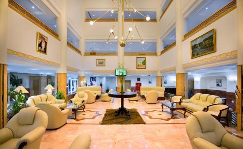 The lounge or bar area at Haffa House Hotel
