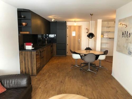 A kitchen or kitchenette at Saaserhof Apartments