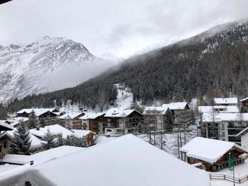 Saaserhof Apartments during the winter