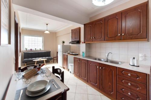 Η κουζίνα ή μικρή κουζίνα στο Sunrise Studios