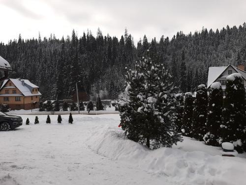 Obiekt Noclegi u Pauliny i Pawła zimą