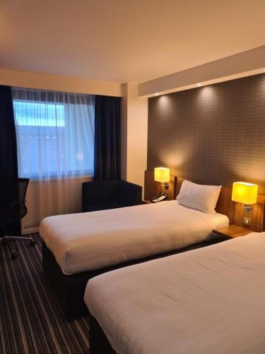 A bed or beds in a room at Holiday Inn Express Middlesbrough - Centre Square, an IHG Hotel