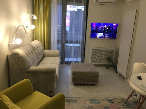 Гостиная зона в Студия в центре Сочи