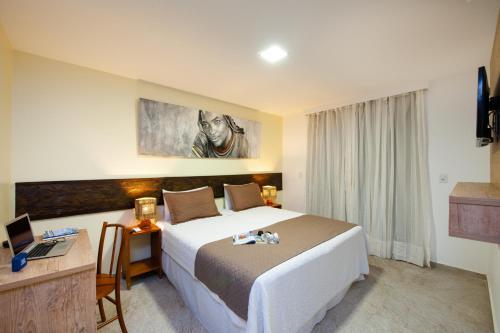 Cama ou camas em um quarto em Pousada Bahia Bacana