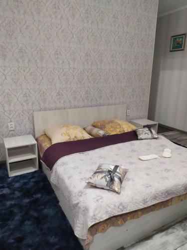 Ліжко або ліжка в номері Mini Hotel na Leningradke