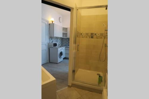 A bathroom at Cocon sans nuisance sonore