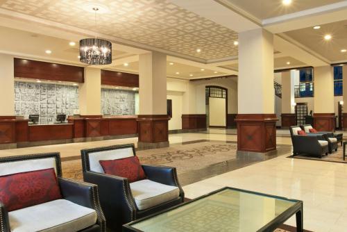The lobby or reception area at Capital Hilton