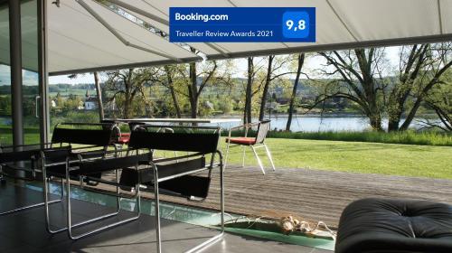Bodensee Loft Villa direkt am Rhein mit Traum-Aussicht