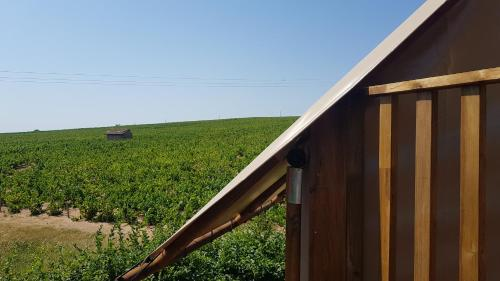 Balcon ou terrasse dans l'établissement Camping La Grappe Fleurie