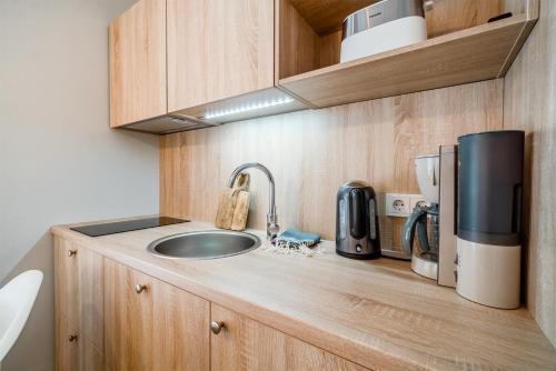 Köök või kööginurk majutusasutuses Mere 38 Apartments