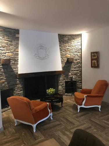 The lobby or reception area at Grand Hôtel De Calvi