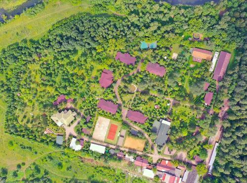 A bird's-eye view of Akvareli Resort