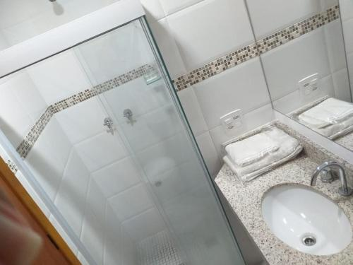 A bathroom at Hotel Hetropolis