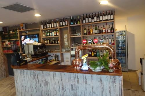 Zona de lounge sau bar la Hotel Nord
