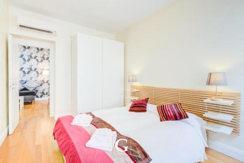 Cama ou camas em um quarto em Residenza Gonfalone