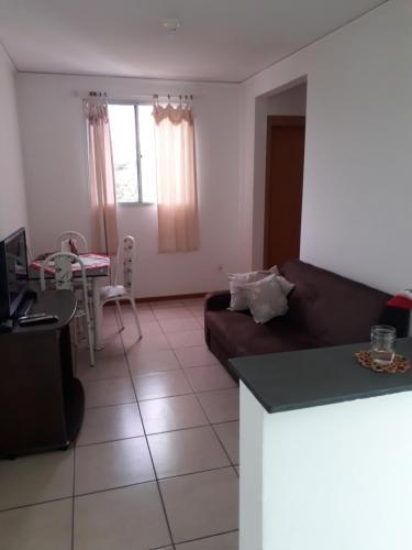 A seating area at Apartamento Chapada Diamantina