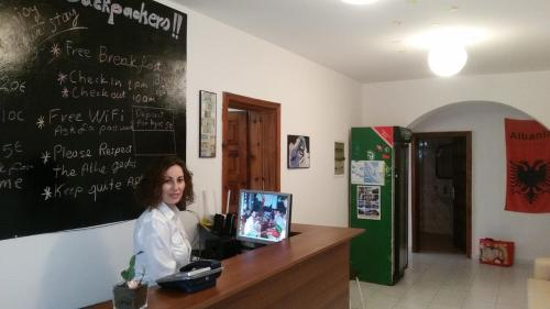 The lobby or reception area at Vlora Backpackers Hostel
