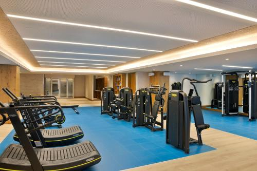 The fitness center and/or fitness facilities at Hilton Abu Dhabi Yas Island