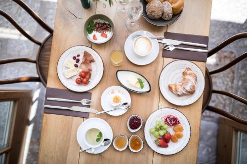 Frühstücksoptionen für Gäste der Unterkunft Hotel Jagdhof
