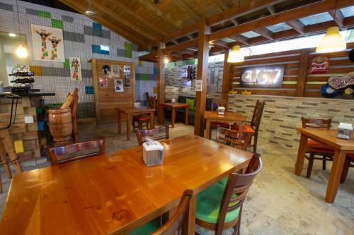 A restaurant or other place to eat at Casa Valeria Boutique Hotel