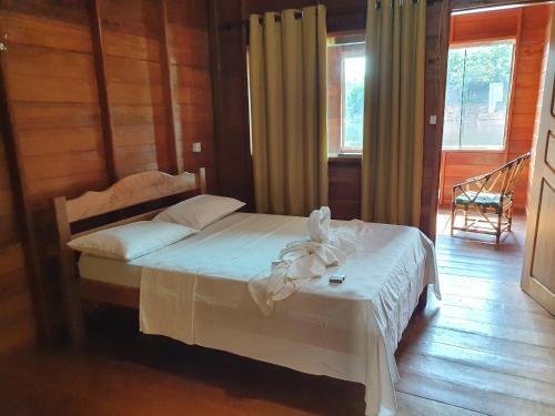 Cama o camas de una habitación en Amazon Arowana Lodge