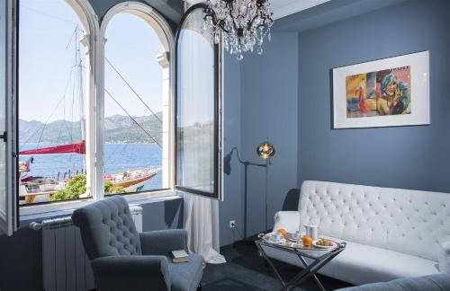 A seating area at Aminess Korcula Heritage Hotel