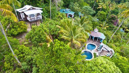 A bird's-eye view of Fond Doux Eco Resort