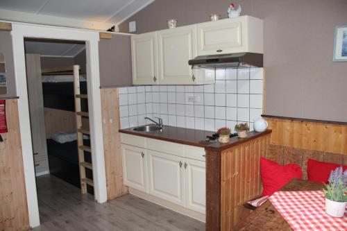 A kitchen or kitchenette at Chalet - Camping 't Dekske