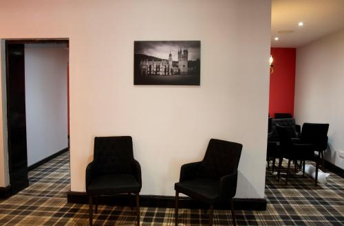 A seating area at Crown Court Hotel