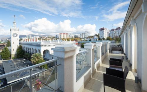 A balcony or terrace at Park Inn by Radisson Sochi City Centre